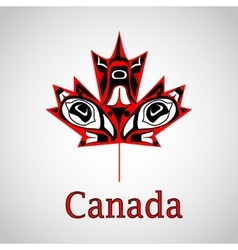 Canadian native maple leaf vector