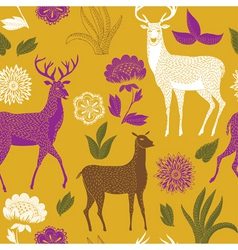 Natural deer wallpaper vector