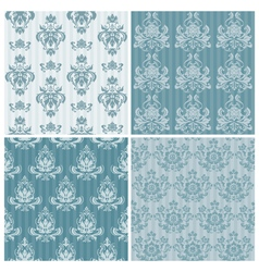 set of ornamental damask vector image