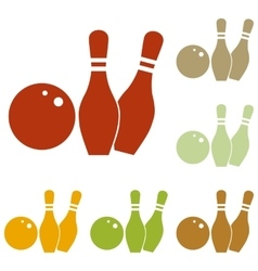 Bowling sign vector