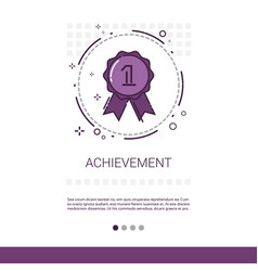 Achievement medal appreciations business vector