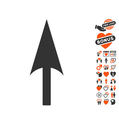 Arrow axis y icon with dating bonus vector