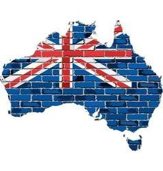 Australia map on a brick wall vector image