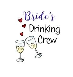 Bachelorette party template bridal shower print vector
