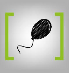 Balloon sign black scribble vector