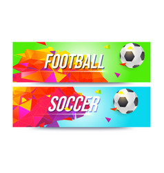 Banners for football teams championships of vector