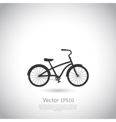 Bicycle icon on gray background vector image