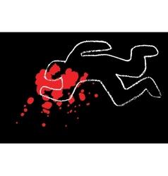 classic crime scene vector image vector image