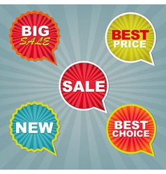 Colorful Sale Stickers And Labels vector image vector image