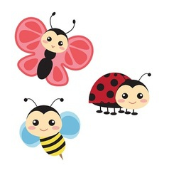 Cute bugs vector image vector image