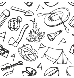 Doodle pattern adventure vector