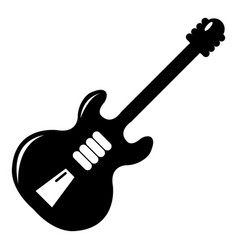 electric guitar icon simple style vector image
