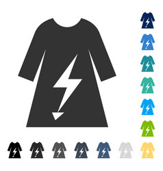 Electric power lady dress icon vector