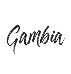 Gambia text design calligraphy vector