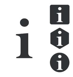 Information icon set monochrome vector
