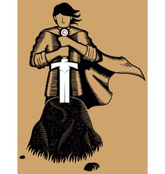 King Arthur vector image vector image