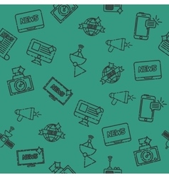 Mass media pattern vector image
