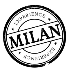 Milan stamp rubber grunge vector