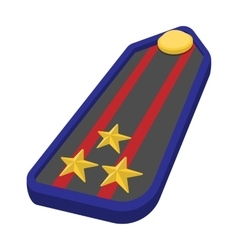 Military epaulets cartoon icon vector image