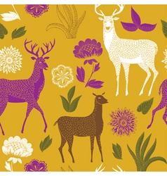natural deer wallpaper vector image vector image