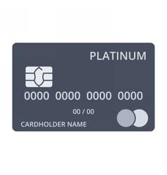 Platinum debit card vector