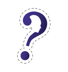 Question mark shape head image vector