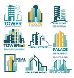 real estate agency or company skyscrapers vector image