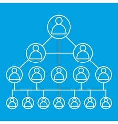 Social media network line icon vector image