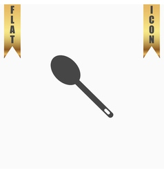 spoon flat icon vector image