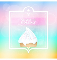 Summer holiday mint abstract background vector image