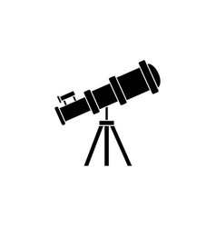 telescope solid icon education and astronomy vector image vector image