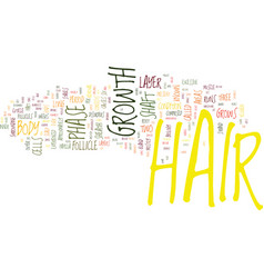The biology behind hair growth text background vector