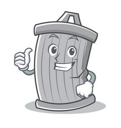 thumbs up trash character cartoon style vector image vector image