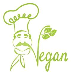 Vegan chef vector