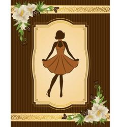 Vintage lady vector image vector image