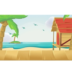 Wood Sea Sky Tropical Background vector image vector image