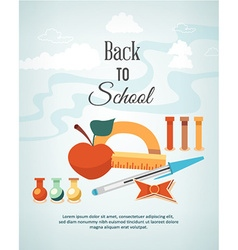 Education with school elements vector