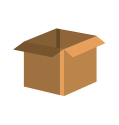Carton packing box icon vector