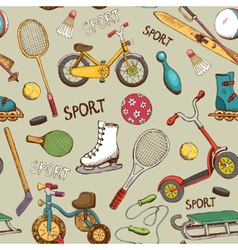 Sports and action games pattern vector