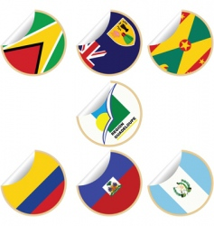 sticker labels vector image