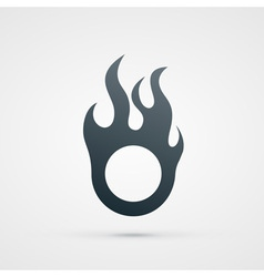 Fire design element vector