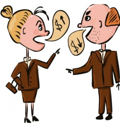 Business people talking money vector
