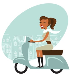 Scooter girl vector image