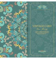 vintage card color vector image