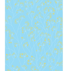 Blue yellow floral pattern vector
