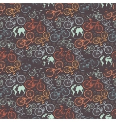 Bicycle grunge pattern vector