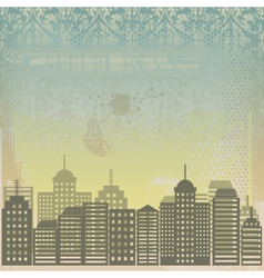 City grunge background vector