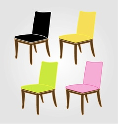 Graphic of dining chairs vector