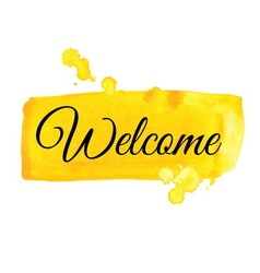 Welcome sign Watercolor vector image