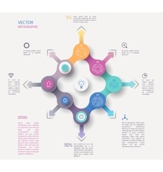 Circle infographic concept vector